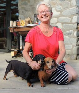 Debbie and Dachshunds, Daisy and Syd